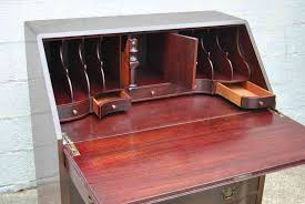 antique drop front secretary desk with hutch all home ideas and