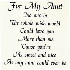 aunt I have over a dozen aunts and even more two times removed