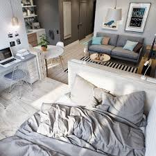 2 Simple Super Beautiful Studio Apartment Concepts For A Young Couple Includes Floor Plans Small Ideas