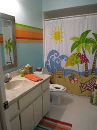 modern beach themed kids bathroom decor beautiful in home