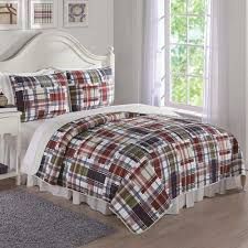 Bone Collector Bedding by Navy Khaki Preppy Plaid Full Queen Quilt Full Queen Size Quilt