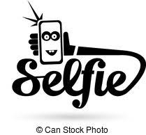 Taking Selfie on Smart Phone concept icon Taking