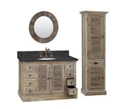48 Inch Single Sink Rustic Bathroom Vanity Marble Top