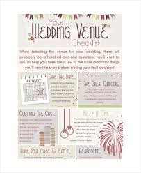 Wedding Day Venue Checklist For Planner