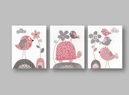 tableau chambre bébé fille lot de 3 illustrations pour chambre d enfant et bebe gris