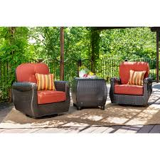 La-Z-Boy Outdoor Breckenridge 3 Piece Rattan With Sunbrella Cushions ... Shop Cayo Outdoor 3piece Acacia Wood Rocking Chair Chat Set With 30 Fresh Wicker Patio Fniture Ideas Theoaklanduntycom Wooden Seat 10 Best Chairs 2019 Cozy Front Porch With Capvating High Quality Collections Polywood Official Store Pong Ikea Amazoncom Sunlife Indooroutside Lounge Rocker Nuna W Cushion Of 2 By Modern Allmodern Cushions Grey Glider Replacement Unique Contemporary Designs All Design