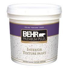 behr premium plus 2 gal popcorn flat interior texture paint 55902