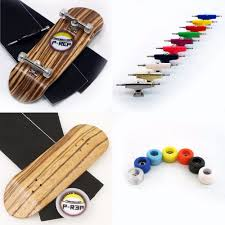 100 Fingerboard Trucks PREP 32mm Zebra Wooden Complete Custom Color Trucks