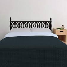 geckoo schlafzimmer wand aufkleber holz geschnitzt kopfteil