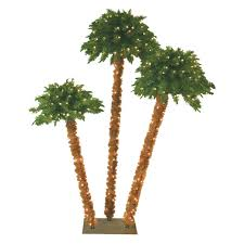 4ft Green Pre Lit Christmas Tree by Artificial Christmas Palm Tree Christmas Lights Decoration