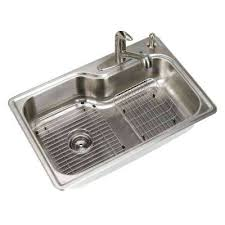 Glacier Bay Laundry Sink by 9 Inch Deep Stainless Steel Double Bowl Kitchen Sink Brushed
