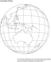 Printable Blank World Globe Earth Maps • Royalty Free