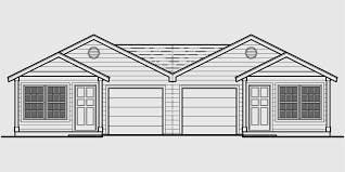 Single Story Building Plans Photo by Duplex House Plans One Level Duplex House Plans D 529