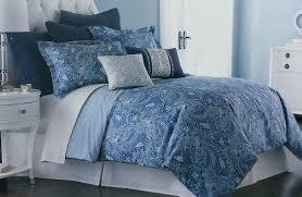 Cindy Crawford Lakota Paisley 3pc Oversized Duvet Cover Set Blue