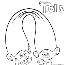 Trolls Coloring For Girls Pages