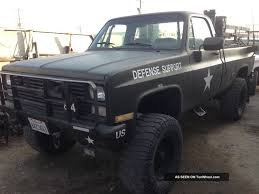 100 Blazer Truck 1984 Cheverolet Army