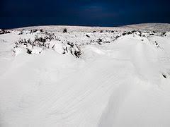 Snowdrift On The Long Mynd Shropshire