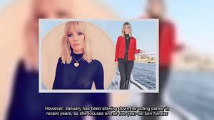 january jones stuns red blazer last man earth booze cruise youtube