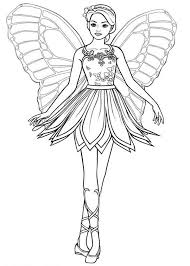 Barbie Mariposa Picture Of Colouring Page