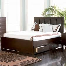 bed king size platform bed with drawers for staggering building