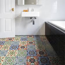 böhmischen stil bunte fliesen wand aufkleber kunst wandbild home decor badezimmer küche taille linie wand abziehbilder wasserdicht pvc boden
