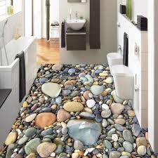 3d stereo stein pebble boden tapete badezimmer wohnzimmer
