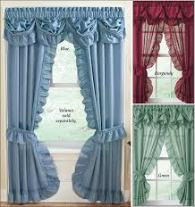 White Cotton Kitchen Curtains by Living Room Fabulous Layered Lace Curtains Priscilla Style