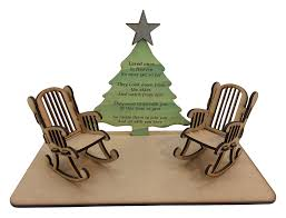 D&C Laser Designs Christmas Edition Loved Ones In Heaven 3D Plaque With  Empty Rocking Chair With Original Verse Written By CJ Round Available With  1 ...