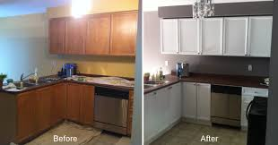 Painting Kitchen Cabinets Before And After 2 Old Pertaining To Techniques In Creating Refinished