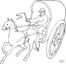 Click The Horse Pulling A Cart Coloring Pages To View Printable