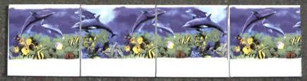 dolphin ceramic bathroom back splash tile mural