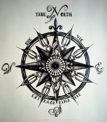 Admirable Tattoos Of Compasses True North Compass Tattoo Lettering