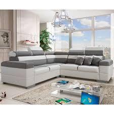 canap d angle tissus gris canapé d angle réversible tissu gris 100 polyester pvc blanc
