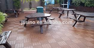 brown wpc decking tiles outdoor patio flooring tile interlocking