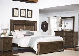 Twin Lakes Panel Bed 6 Piece Bedroom Set in Wirebrushed Weathered