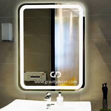 wall mounted high quality led lighted vanity mirror 31 x 23 in