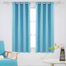 Brown And Teal Living Room Curtains by Living Room Blackout Drapes With Blue Curtain And Blue Modern
