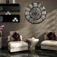 retro wanduhr vintage runde wohnzimmer uhr designuhr ziffern