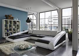 sam sofa garnitur schwarz weiß weiß ciao wohnlandschaft 250