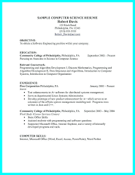 Resume For Computer Science Sample With Skills Example