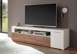 lowboard menorca weiß wildeiche dunkel 180cm tv schrank fernsehtisch wohnzimmer