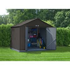 Arrow Galvanized Steel Storage Shed by Ezee Shed 10 X 8 Ft Storage Shed In Charcoal