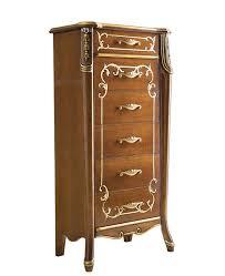 kommode möbel klassisch einrichtung im stil für schlafzimmer wohnzimmer kommode bassano gold handgemalt mit füße 6 schubladen made in