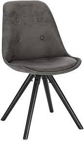 woltu bh268an 1 1 stück esszimmerstuhl sitzfläche aus stoffbezug design stuhl küchenstuhl holzgestell antiklederoptik anthrazit