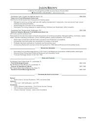 Sample Resumes For Hospitality Industry Management Resume Samples Hotel Sales Manager Images
