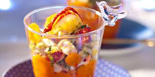 huile cuisine verrine de homard et carotte à l huile d argan recette sur cuisine