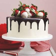 geburtstagskuchen bilder torte mit sahne weiße schokolade