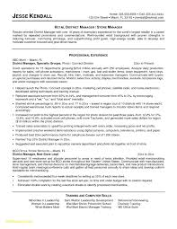 Sample Resume For Restaurant Store Manager Elegant 23 Description Free
