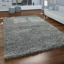 grauer hochflor teppich wohnzimmer shaggy flauschig weich