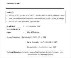 Resume Objective Examples For College Students Student